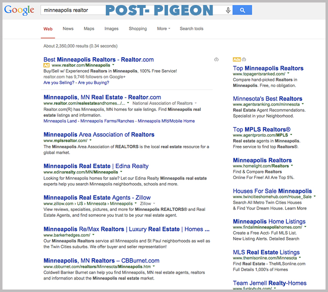 Post Pigeon Results