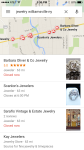 iPhone Google Maps App list view