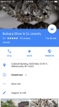 iPhone Google Maps Brand search and when click thru from list view