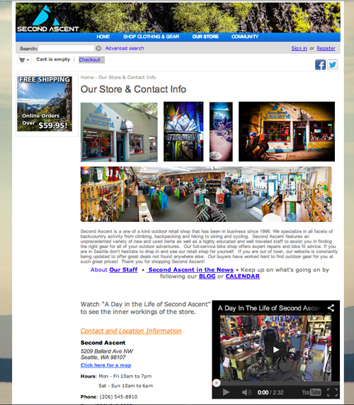 single location web page example 2