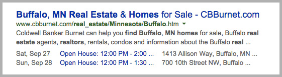 open house rich snippets