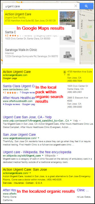 Types Of Google Local Results