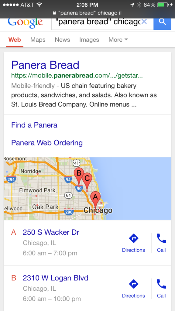 A Guide to Google Mobile Local Pack Results - Local University