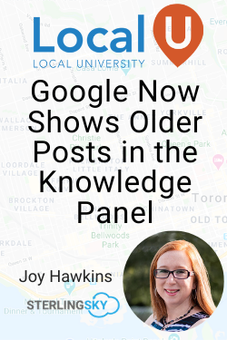 Google Now Shows Older Posts in the Knowledge Panel