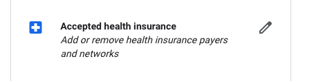 Managing Insurance Information for Healthcare Providers on Google My Business