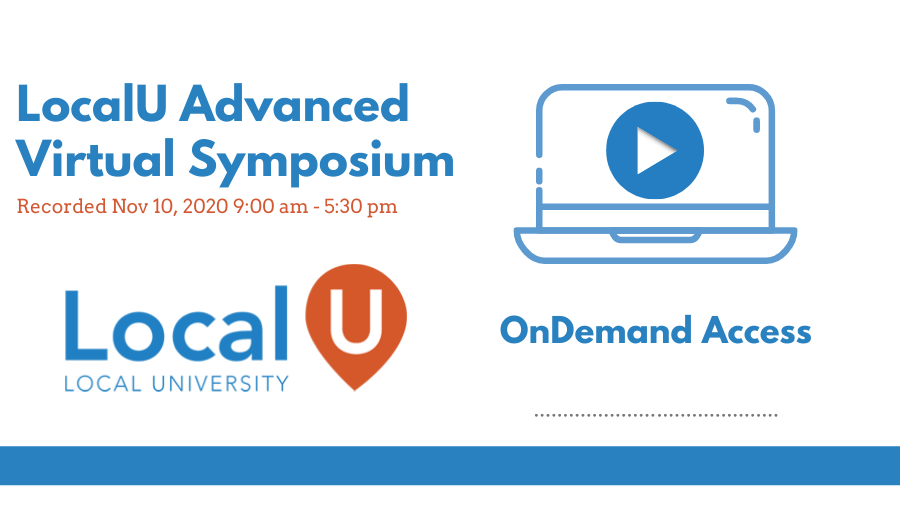 LocalU Advanced Nov 10 On Demand